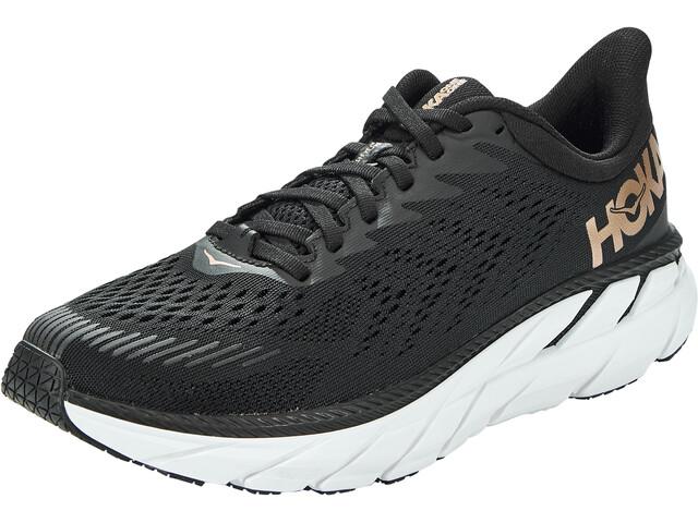 Hoka One One Clifton 7 Running Shoes Women black/bronze
